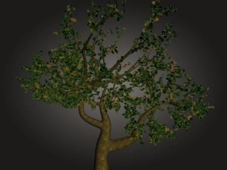 Exemplo de Folhas Criadas Com o TreesFromCurves